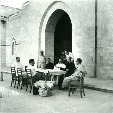 Copy of JMA 4 DSS team of 1950s clockwise round table Milik, de Vaux, Allegro, Starcky, c, a, b, d